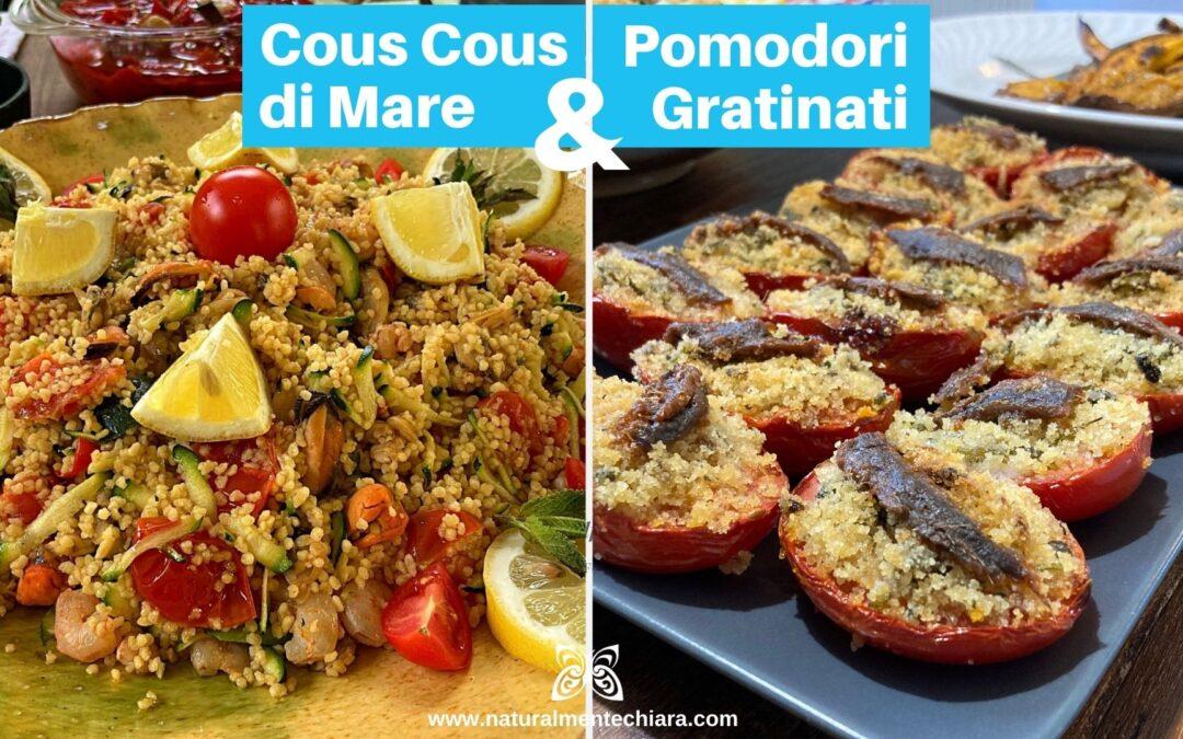 Cous Cous di Mare e Pomodori Farciti Gratinati